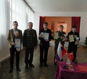Награждение командиров команд - призеров