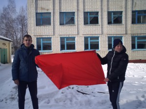Клейменов Н. и Малоихин А. - студенты группы №924, победившей в военно- спортивной игре